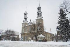 Χειμερινή σκηνή εκκλησιών σε Άγιος-Eustache Στοκ Εικόνες