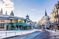 Χειμερινή σκηνή στο κέντρο της SPA, Βέλγιο στοκ φωτογραφία