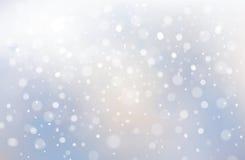 Χειμερινή σκηνή Vecto του υποβάθρου χιονοπτώσεων Στοκ Εικόνες