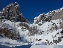 Χειμερινή φύση στο εθνικό πάρκο Triglav Στοκ εικόνες με δικαίωμα ελεύθερης χρήσης