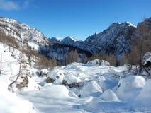 Χειμερινή φύση στο εθνικό πάρκο Triglav Στοκ εικόνα με δικαίωμα ελεύθερης χρήσης