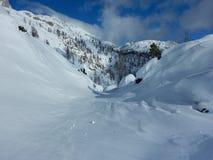 Χειμερινή φύση στο εθνικό πάρκο Triglav Στοκ Φωτογραφίες