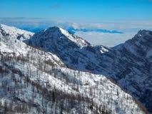 Χειμερινή φύση στο εθνικό πάρκο Triglav Στοκ Φωτογραφία