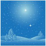 Χειμερινή χιονίζοντας σκηνή διανυσματική απεικόνιση
