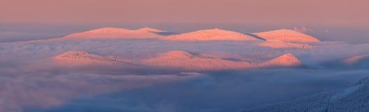 Χειμερινή χώρα των θαυμάτων, φωτογραφία που λαμβάνεται στη Δημοκρατία της Τσεχίας Στοκ Εικόνες