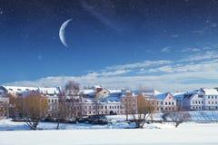 Χειμερινή ‹â€ ‹νύχτα πόλεων †Στοκ Φωτογραφία