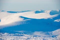 Χειμερινοί βουνά και λόφοι Στοκ Εικόνες