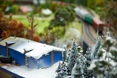 Χειμερινοί τοπίο και σιδηρόδρομος Στοκ Φωτογραφία