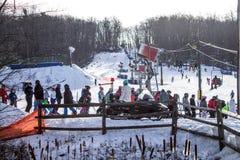 Χειμερινός αθλητισμός στοκ εικόνα