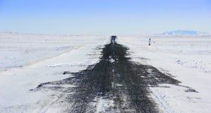 Χειμερινός δρόμος Στοκ εικόνα με δικαίωμα ελεύθερης χρήσης