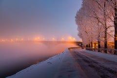 Χειμερινός περίπατος του Ιρκούτσκ Στοκ Φωτογραφίες