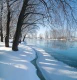 Χειμερινός ποταμός Στοκ Εικόνες
