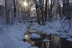Χειμερινός ποταμός Στοκ φωτογραφία με δικαίωμα ελεύθερης χρήσης