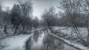 Χειμερινός ποταμός Στοκ Εικόνα