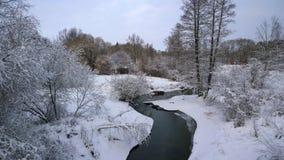 Χειμερινός ποταμός Στοκ Φωτογραφία