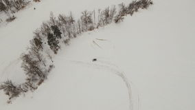 Χειμερινός πλαϊνός αγώνας απόθεμα βίντεο