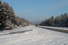 Χειμερινός δρόμος Στοκ Φωτογραφίες