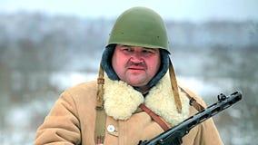 Χειμερινός στρατιώτης απόθεμα βίντεο