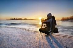 Χειμερινός φωτογράφος Στοκ φωτογραφία με δικαίωμα ελεύθερης χρήσης