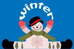 Χειμερινός χιονάνθρωπος Στοκ φωτογραφία με δικαίωμα ελεύθερης χρήσης