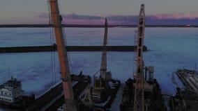 Χειμερινός όρος των λογιστικών σκαφών, εναέριος πυροβολισμός απόθεμα βίντεο