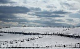 Χειμερινός λόφος Στοκ Εικόνες