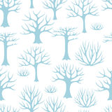 Χειμερινό άνευ ραφής σχέδιο με αφηρημένο τυποποιημένο Στοκ Εικόνες