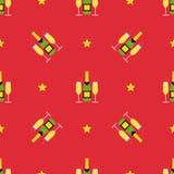 Χειμερινό άνευ ραφής σχέδιο Χριστουγέννων απεικόνιση αποθεμάτων