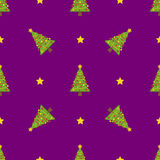 Χειμερινό άνευ ραφής σχέδιο Χριστουγέννων διανυσματική απεικόνιση