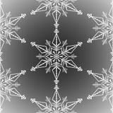 Χειμερινό άνευ ραφής υπόβαθρο με άσπρα snowflakes στο διαφανές υπόβαθρο Επίδραση παγετού χιονιού στοκ εικόνα με δικαίωμα ελεύθερης χρήσης