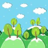 Χειμερινό δάσος άνευ ραφής Στοκ φωτογραφία με δικαίωμα ελεύθερης χρήσης