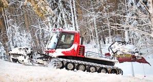 Χειμερινό δάσος με thrower χιονιού Στοκ εικόνες με δικαίωμα ελεύθερης χρήσης