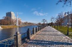Χειμερινό ανάχωμα Kharkiv Ουκρανία Χειμώνας 2014 Στοκ φωτογραφία με δικαίωμα ελεύθερης χρήσης