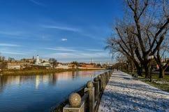 Χειμερινό ανάχωμα kharkov Ουκρανία Χειμώνας - 2014 Στοκ Εικόνα