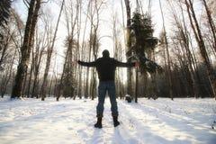 Χειμερινό δασικό άτομο Στοκ φωτογραφίες με δικαίωμα ελεύθερης χρήσης