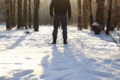 Χειμερινό δασικό άτομο Στοκ Εικόνες