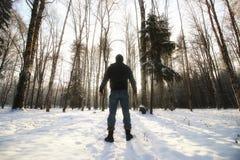 Χειμερινό δασικό άτομο Στοκ Εικόνα