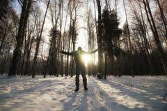 Χειμερινό δασικό άτομο Στοκ φωτογραφία με δικαίωμα ελεύθερης χρήσης