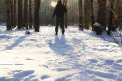 Χειμερινό δασικό άτομο Στοκ Φωτογραφίες