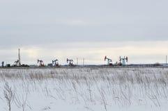 Χειμερινό βιομηχανικό τοπίο Στοκ φωτογραφίες με δικαίωμα ελεύθερης χρήσης