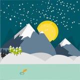 Χειμερινό βουνό Flalt Στοκ Φωτογραφίες