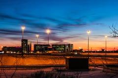 Χειμερινό βράδυ στη Αγία Πετρούπολη στη γήρανση Στοκ Εικόνες