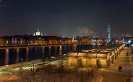 Χειμερινό βράδυ στη Μόσχα Στοκ Εικόνες