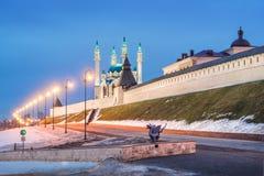 Χειμερινό βράδυ Kazan στοκ εικόνα