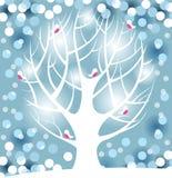 Χειμερινό δέντρο διανυσματική απεικόνιση