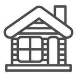 Χειμερινό εικονίδιο ιδιωτικών πυροσβεστικών σωλήνων Χριστουγέννων σπιτιών απεικόνιση που απομονώνεται διανυσματική στο λευκό Σχέδ απεικόνιση αποθεμάτων