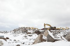 Χειμερινό εργοτάξιο Στοκ εικόνες με δικαίωμα ελεύθερης χρήσης