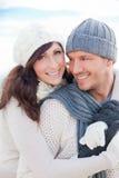 Χειμερινό ζεύγος Στοκ εικόνες με δικαίωμα ελεύθερης χρήσης
