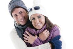 Χειμερινό ζεύγος Στοκ φωτογραφία με δικαίωμα ελεύθερης χρήσης