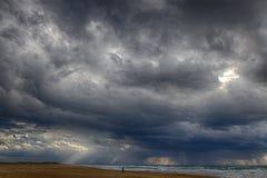 Θύελλα στην παραλία Στοκ φωτογραφία με δικαίωμα ελεύθερης χρήσης
